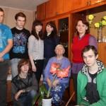 Студенты в гостях у Евтиной Валентины Александровны