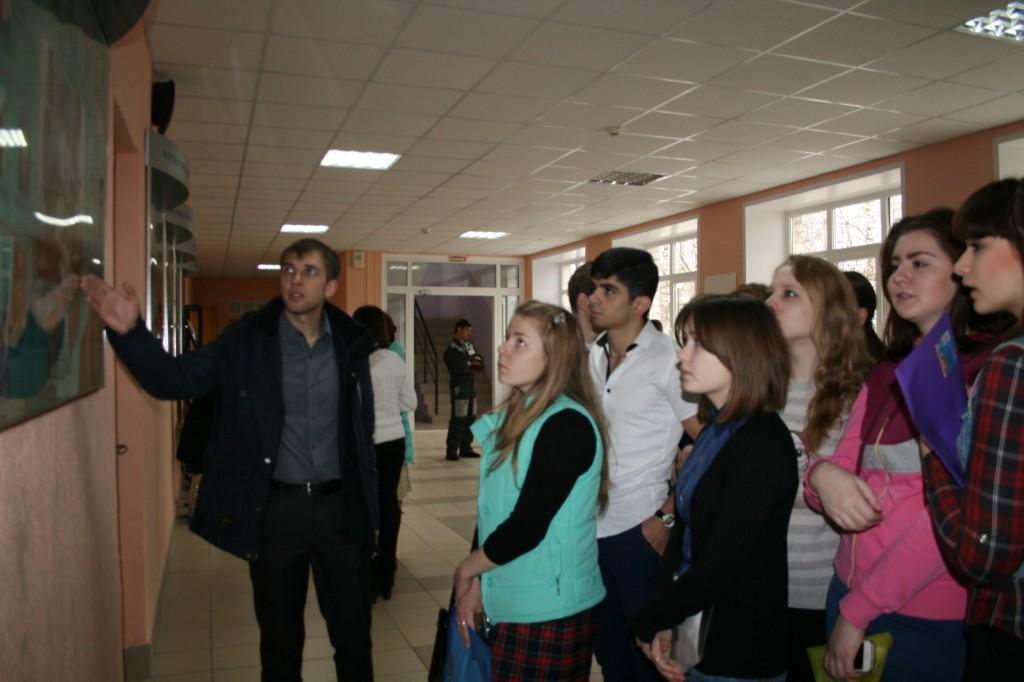 Знакомство с вузом, школьники из Лысковского района